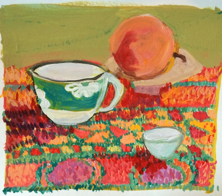 """Cup, Rug, Stone Peach"" by Elizabeth Snelling"