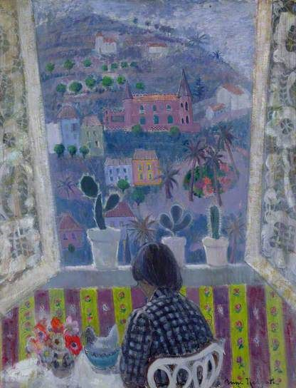 """Window in Menton"" by Anne Redpath"