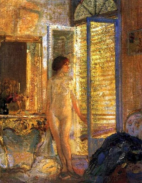 """Sunbather"" by Richard Edward Miller"