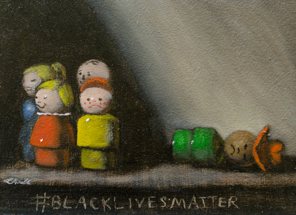 #blacklivesmatter 1, oil on board, from the collection of Melissa and Renee Amator