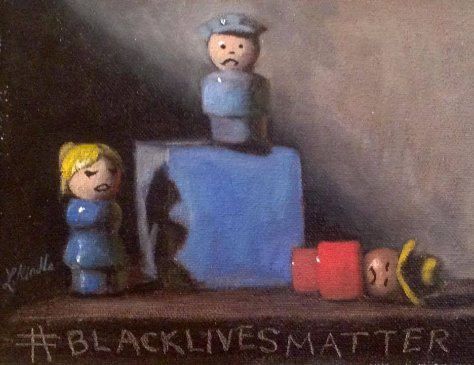 #blacklivesmatter3, oil on board, commissioned by Sally Huxley