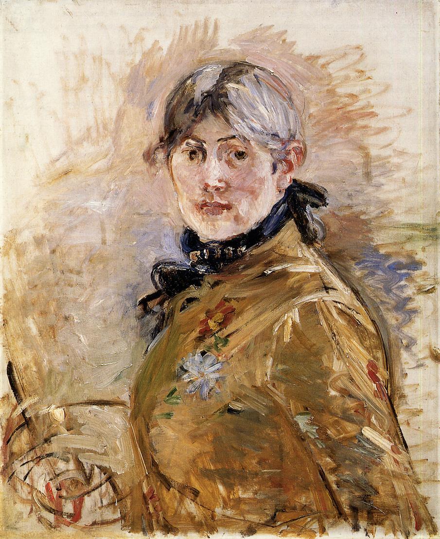 Berthe Moristot's self portrait