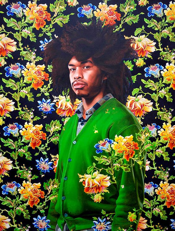 """ Terence Nance ,"" painting by  Kehinde Wiley"
