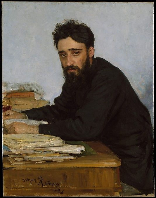 painting by  Ilia Efimovich Repin , 1884 (painting of his friend, the author Garshin)