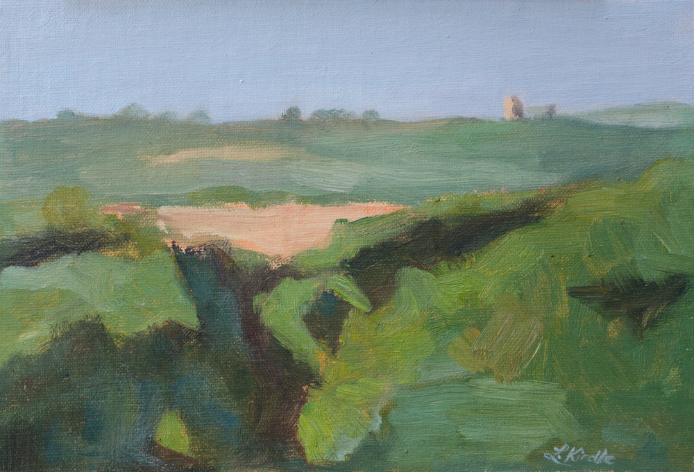 """Cliff Shadows"" oil on linen mounted on board, 5x6"" (I think)  SOLD"
