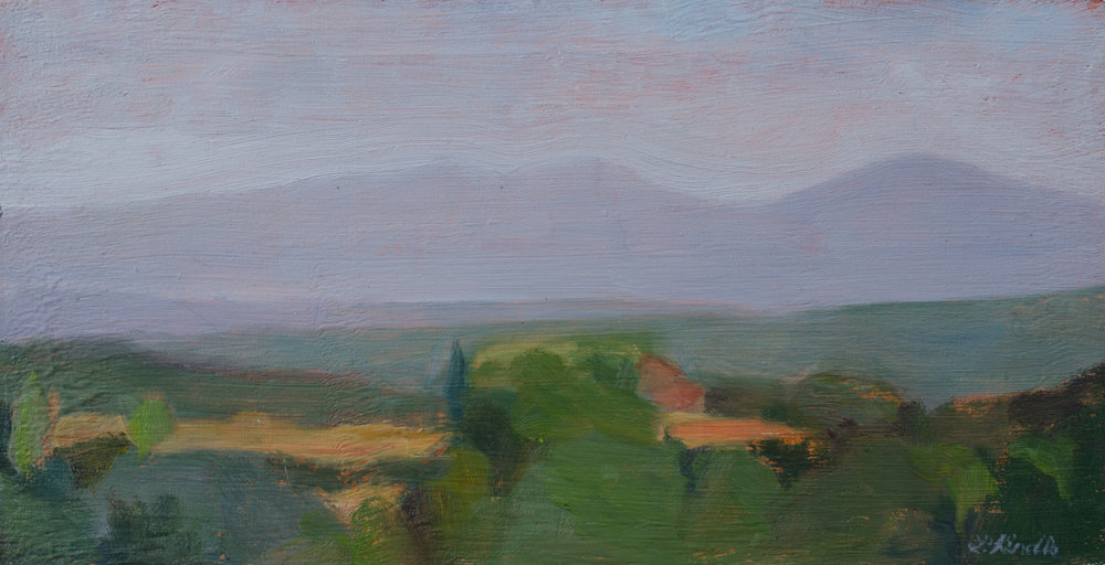 """Mattina"" oil on board, 4x7"" SOLD"