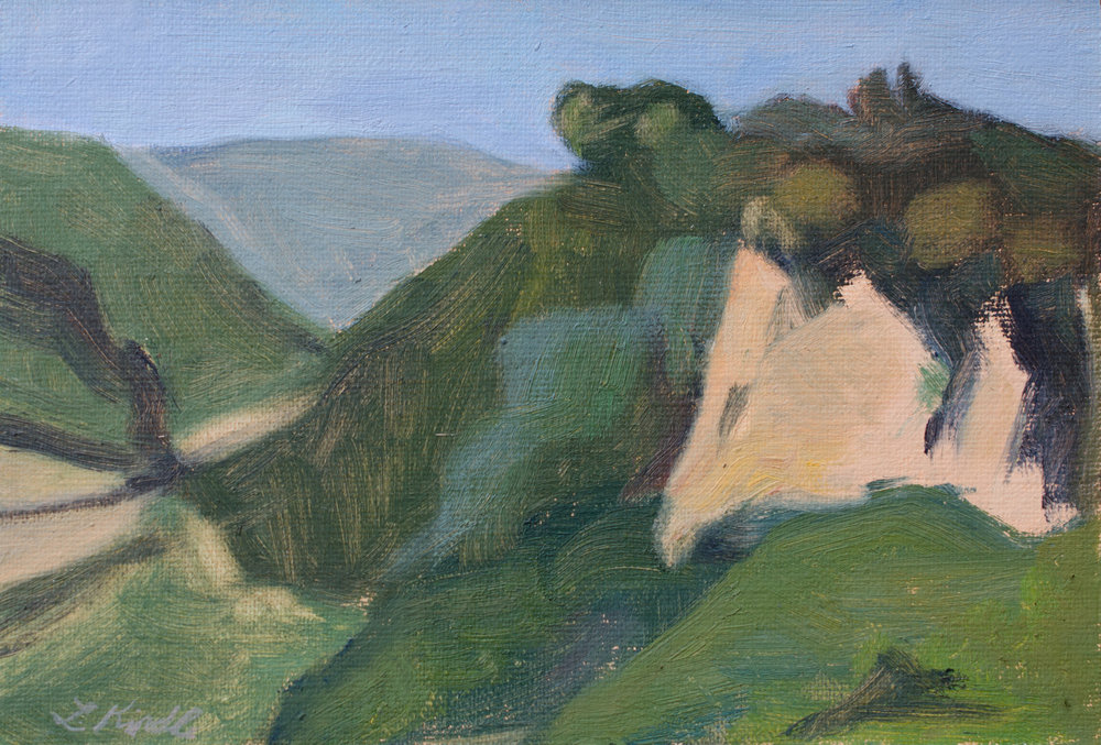 """My First Painting in Italy"" oil on linen mounted on board, 4x6""  $75"
