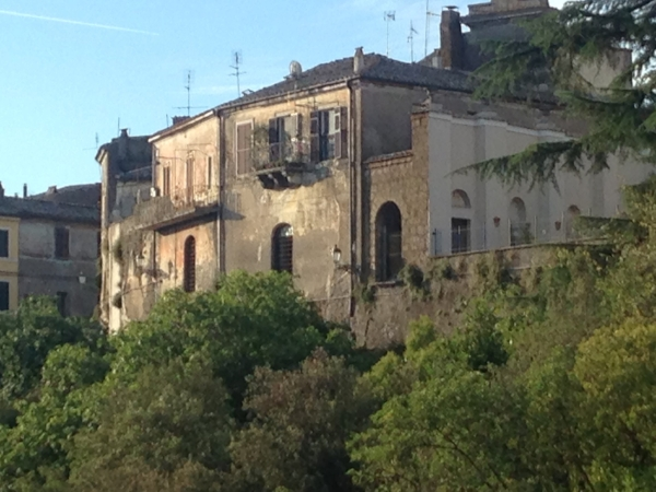photograph I took of some buildings in Civita