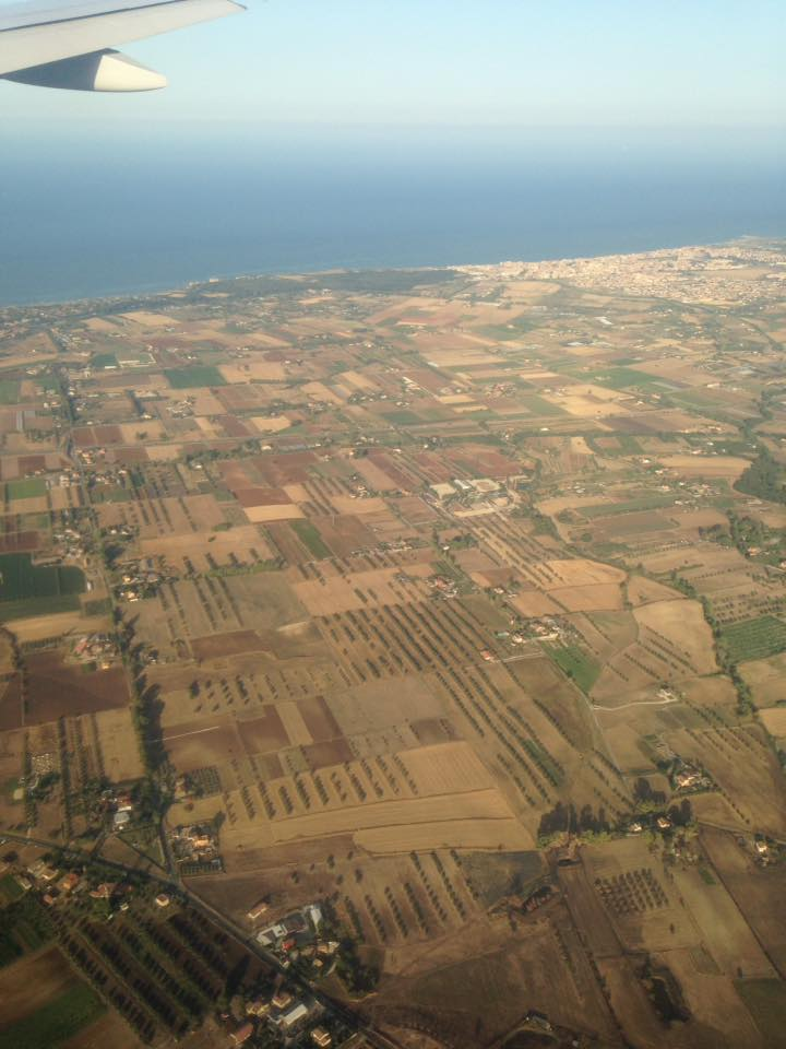 Italy out the window of the plane!