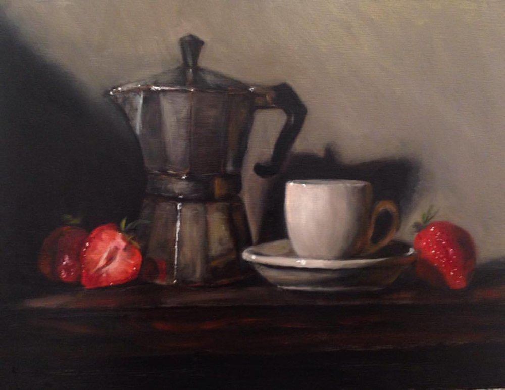 caffè e fragole