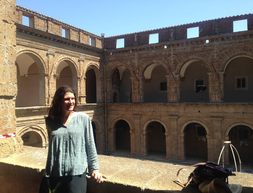 Here I am in  Fort Sangallo , a museum in Civita Castellana, Italy, the town where I lived for two weeks.