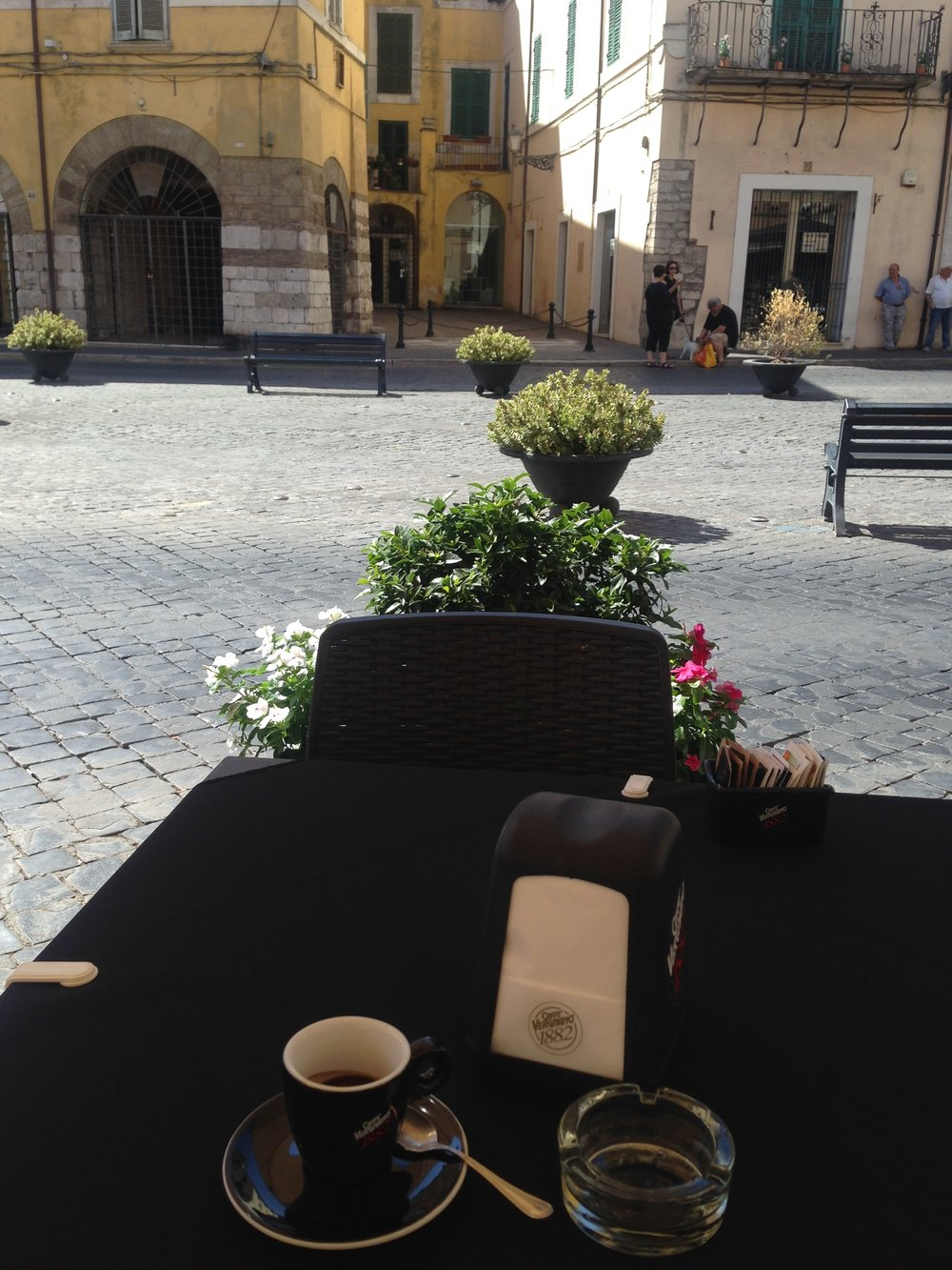 I often had espresso in the Club Cafe, in the Piazza Matteotti in Civita's Centro.  This is where we had art critiques on Saturdays.