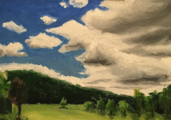 """The Hills"", 5""x7"", oil on board"