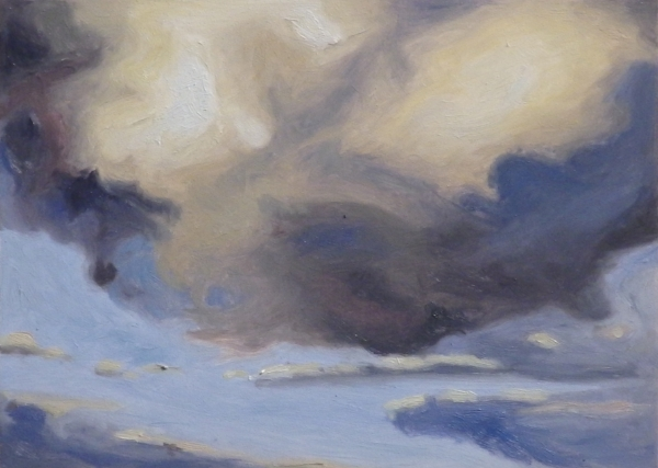 """Clouds 8"", 5""x7"", oil on board"