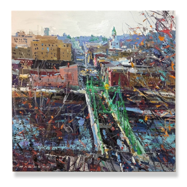 """A View of Easton"", 24""x24"", acrylic on gallery wrap canvas"