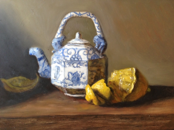 """Helena's Teapot"" oil on board, 8x10"" 2017"