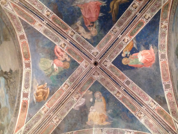 Ceiling at  the Basilica di San Francesco in Arezzo