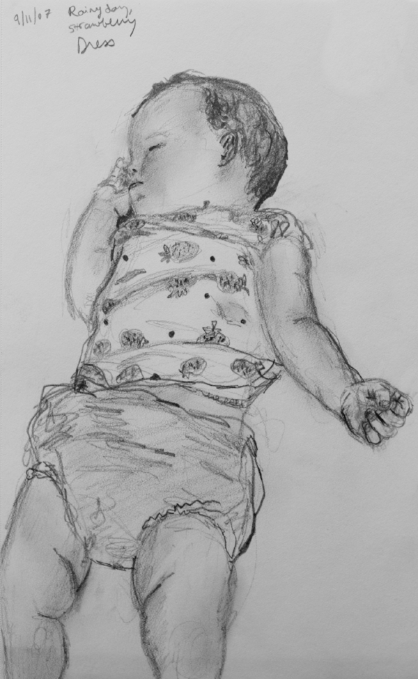 A sketch of my daughter Nell when she was nine months old! (2007)
