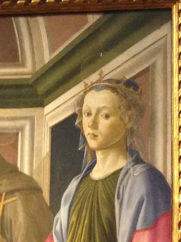 This is Botticelli, but I forget the title.  This woman was a minor character at the edge of the painting, but I felt really connected to her.  It looks like she has something interesting to say.  Or else she has some strong feelings she is holding in, or maybe just a very rich inner creative life...?  #feelings
