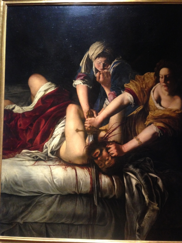 "Artemesia Gentileschi, ""Judith Slaying Holofernes""  She's a badass.  If you don't know about her, go look her up right now! #feminist"