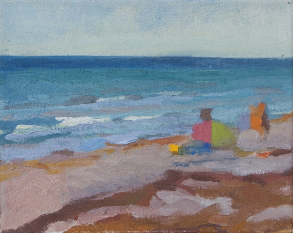 """Rye Beach"" oil on canvas, 2015, 8x10"""