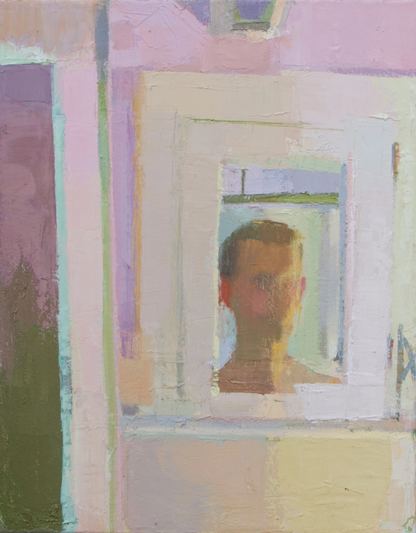 """Reflections in a Pink Room"" oil on canvas, 2018, 14x11"""