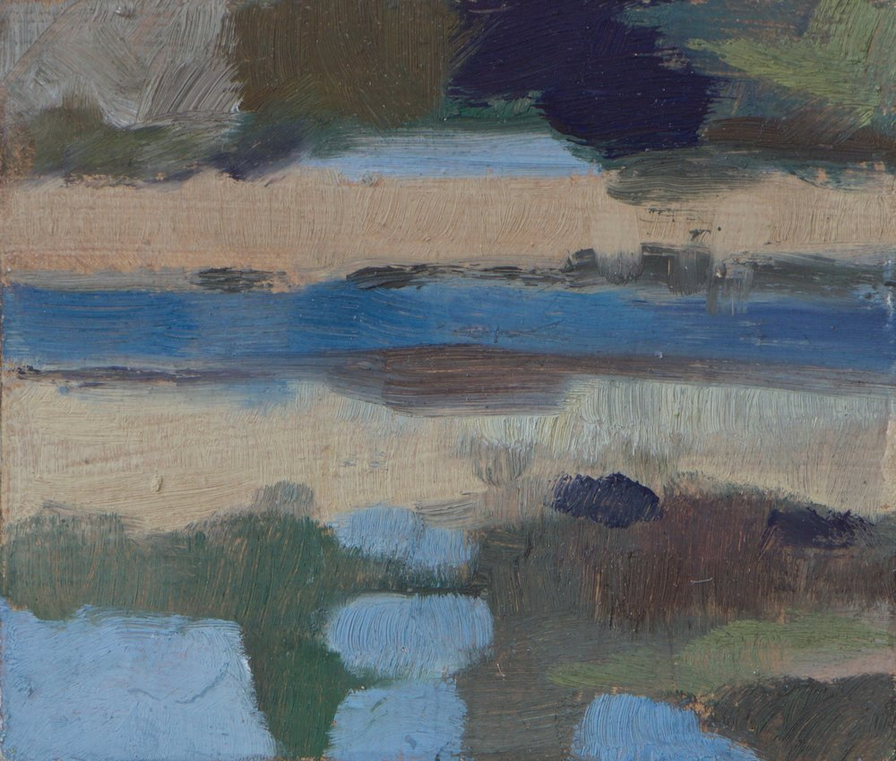 """Durham Point"" oil on canvas, 2015, 4x4.75"""