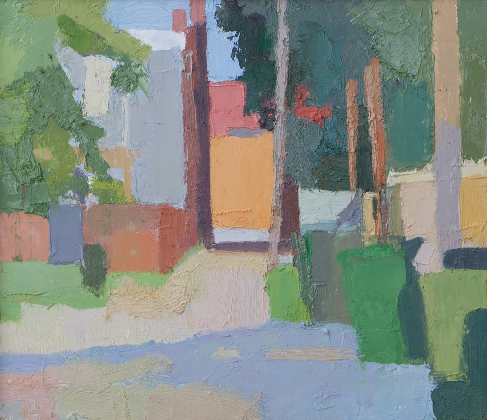 """Behind Hanover Avenue"" oil on panel, 2018, 9x10.5"