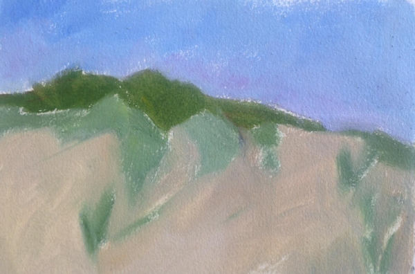 """Sand Dune""  oil sketch on paper, 5x7"""