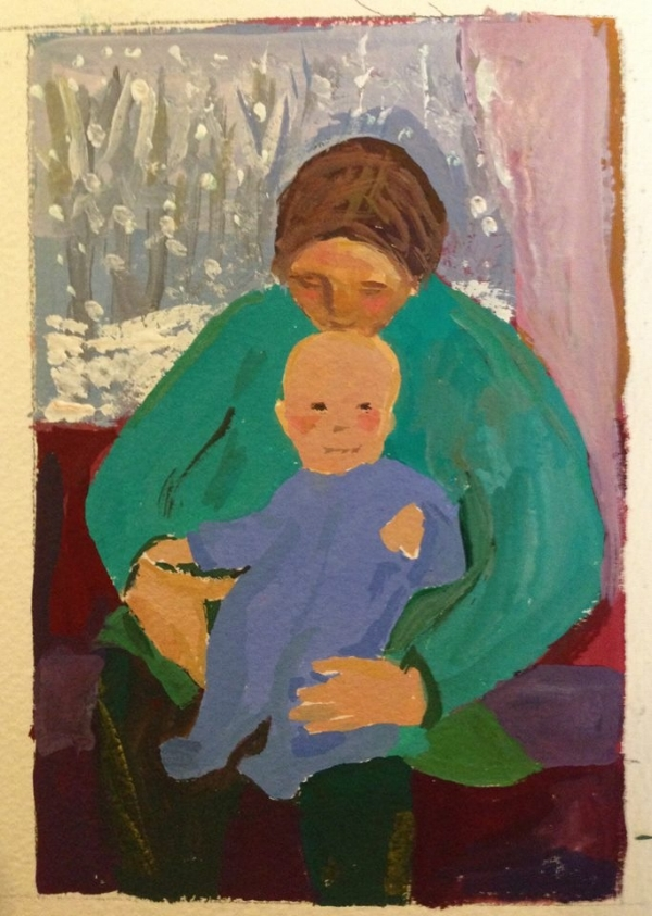 Mother and Child on a Winter Day