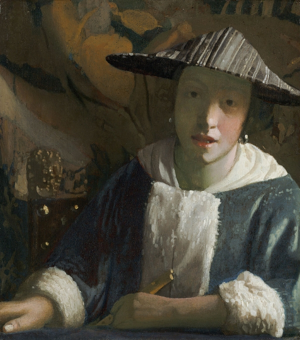 "Vermeer's painting: ""Girl With a Flute""."