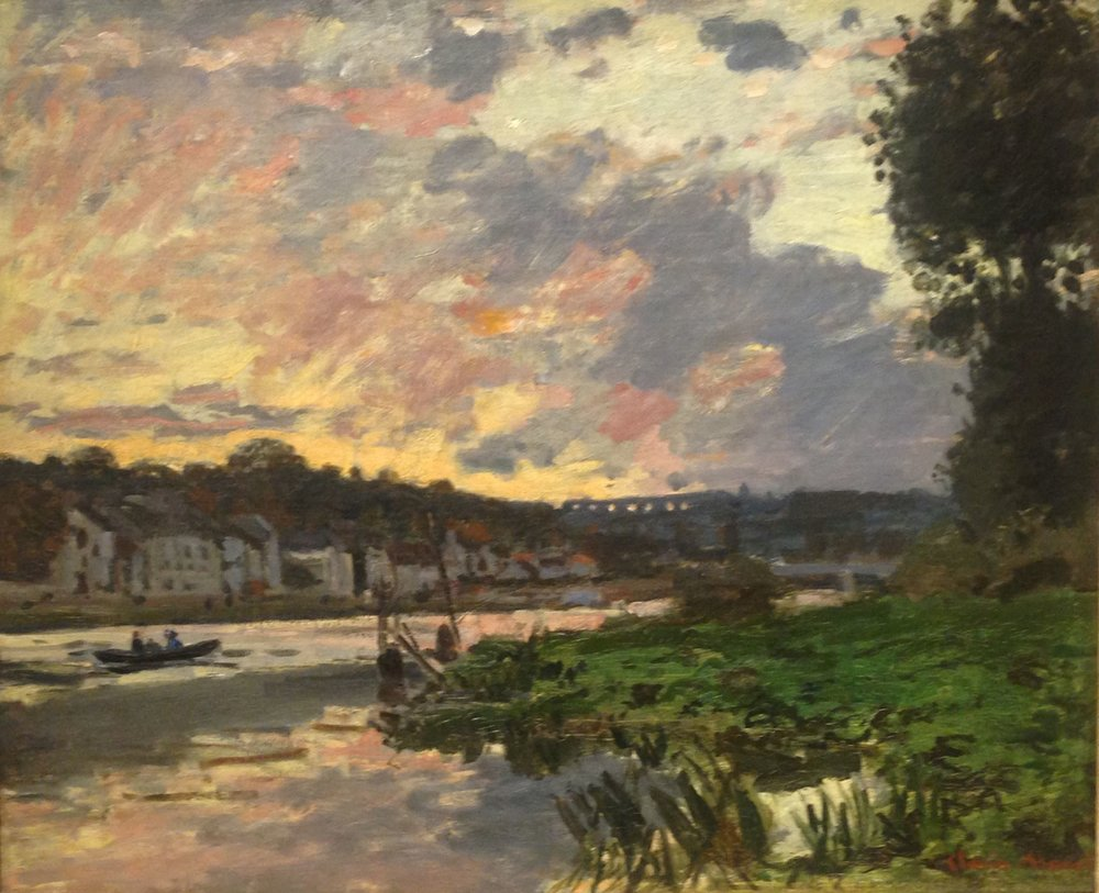 """The Seine at Bougival, Evening"" Monet"