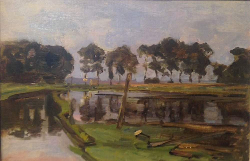 """Trees by the River Gein"" by Piet Mondrian"