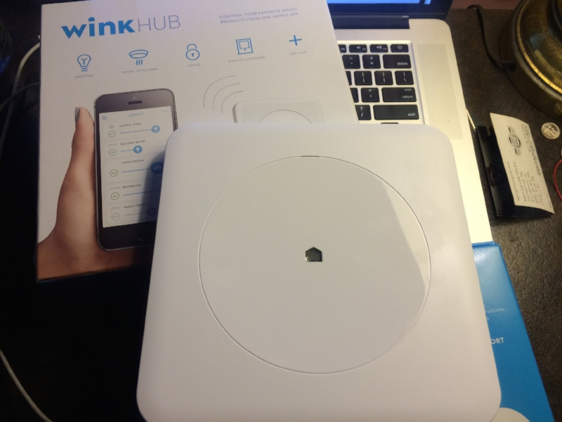 WINK's hub and the instructions
