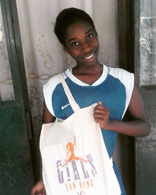 Hoops and Dreams Girl's Division MVP Alasan Secka, from Bakau Basketball Club, sporting her new Girls Can Dunk apparel courtesy of @theladyhoop. #proud #accomplishment #girlpower #bakau #baller #represent #young #ladies #nolimits #striveforgreatness #hoopdreams #gambia #africa #smilingcoast #growthegame #ascendtogether