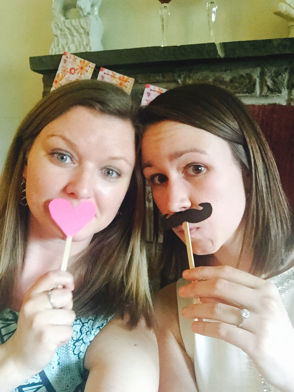 My sister (myMaid of Honor) and I goofing off!