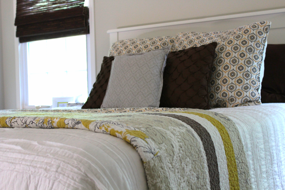 Yellow, Brown, and White Bedding | Harper + Oakley