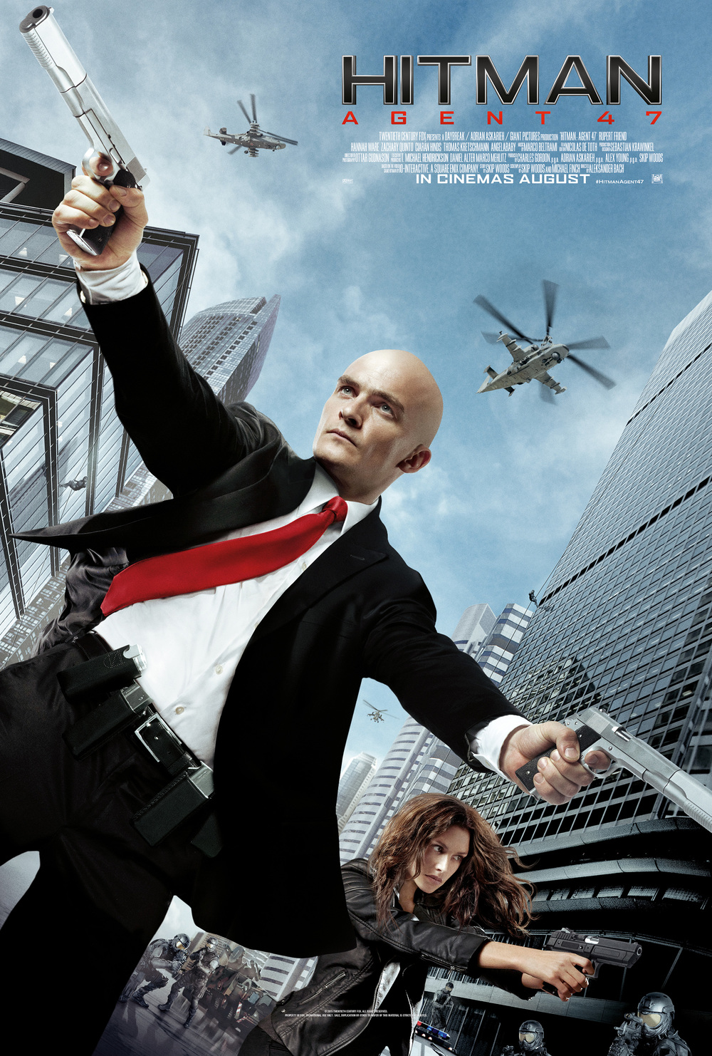 Above: Hitman: Agent 47 (2015) poster. Below: Hitman (2007) poster.