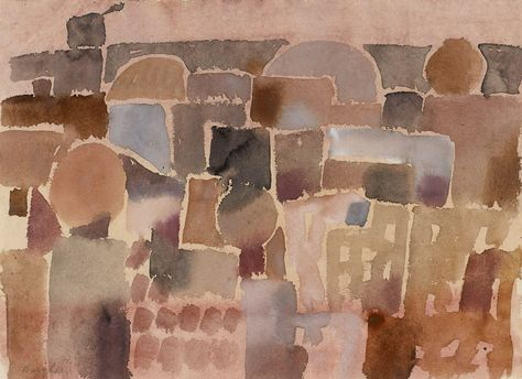 Eduard Bargheer (1901-1979) Südliche Stadt 4, 1972.