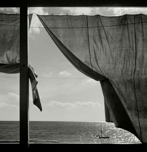 At Mediterranean Sea, Liguria, Italy, by Herbert List, 1936.