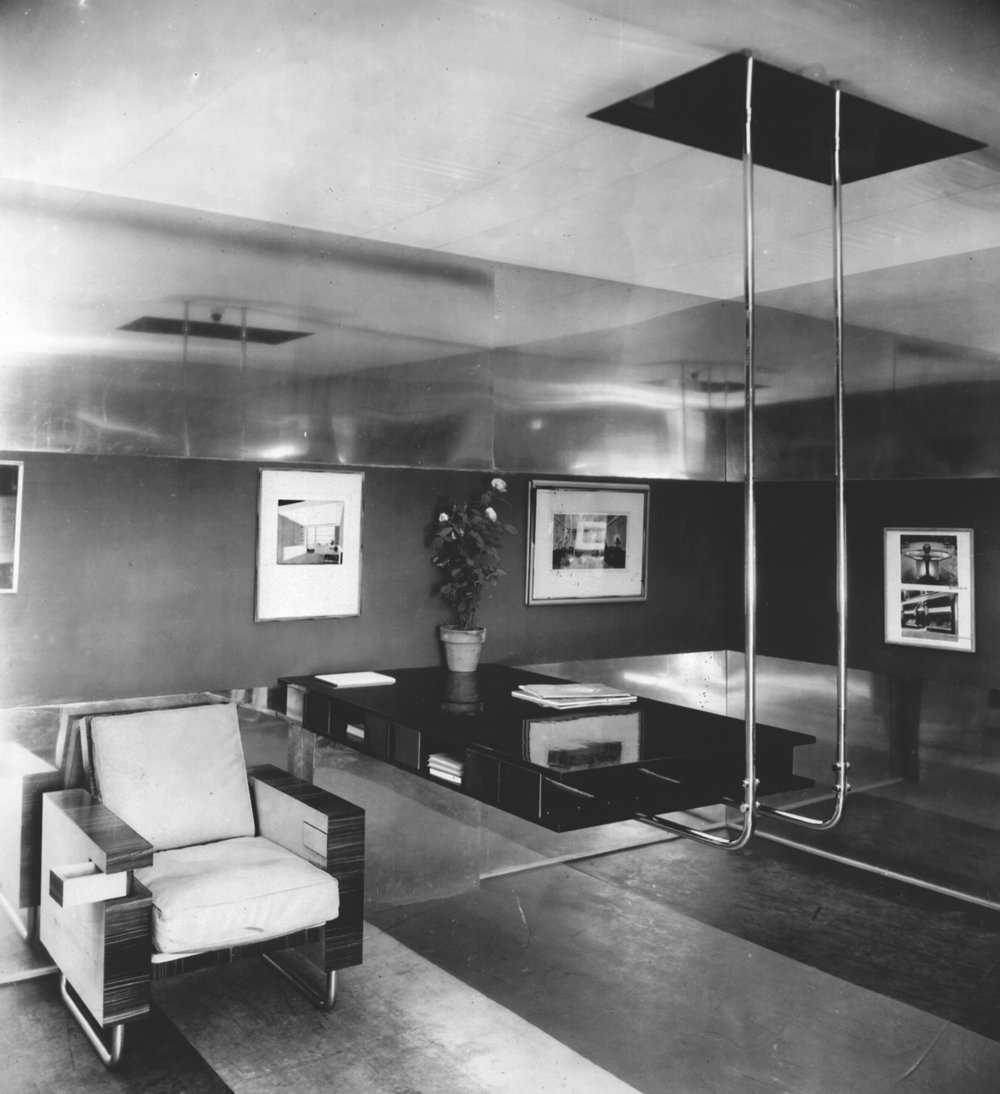 Frederick Kiesler, Presentation of office furniture, AUDAC exhibition, Grand Central Palace, New York, 1930. Image via Frederick Kiesler Foundation.