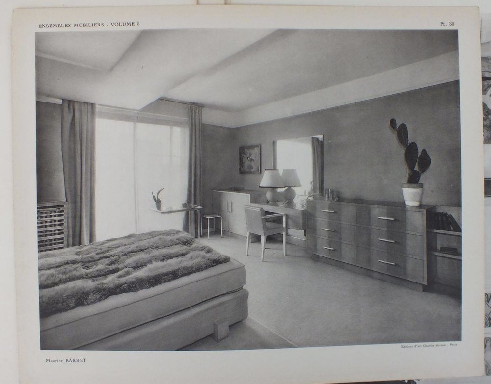 Image from Ensembles Mobiliers, Volume 5. Interior by Maurice Barret. Publication created by Charles Moreau.