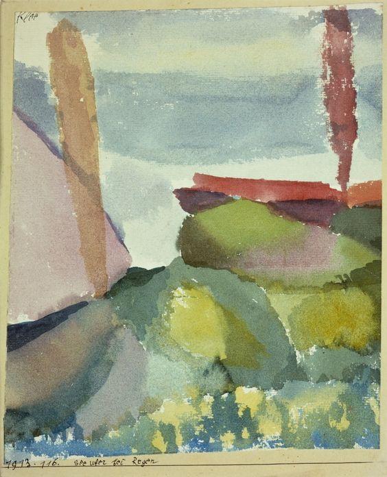 Seeufer bei Regen (Seaside in the Rain), 1913.
