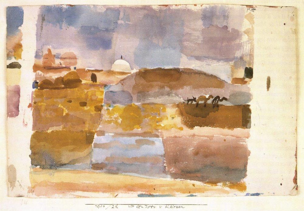 Vor den Toren von Kairuan (Before the Gates of Kairouan), 1914.