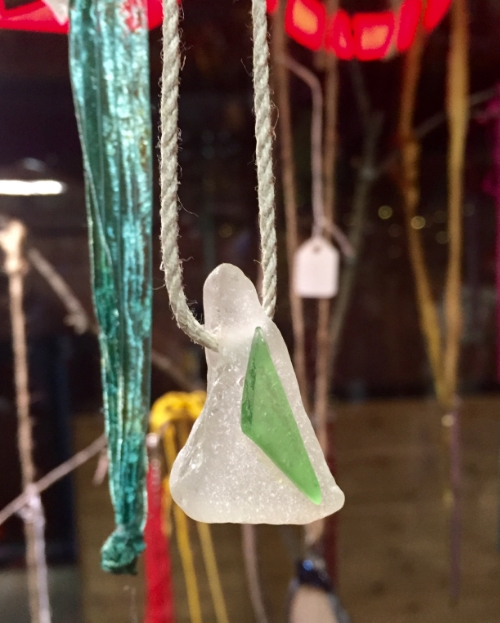 Sea glass necklace. Artist: Judy Quinn