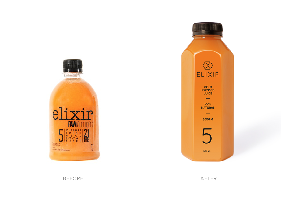before and after branding elixir detox