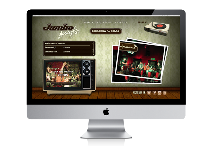 WEB DESIGN MUSIC BAND