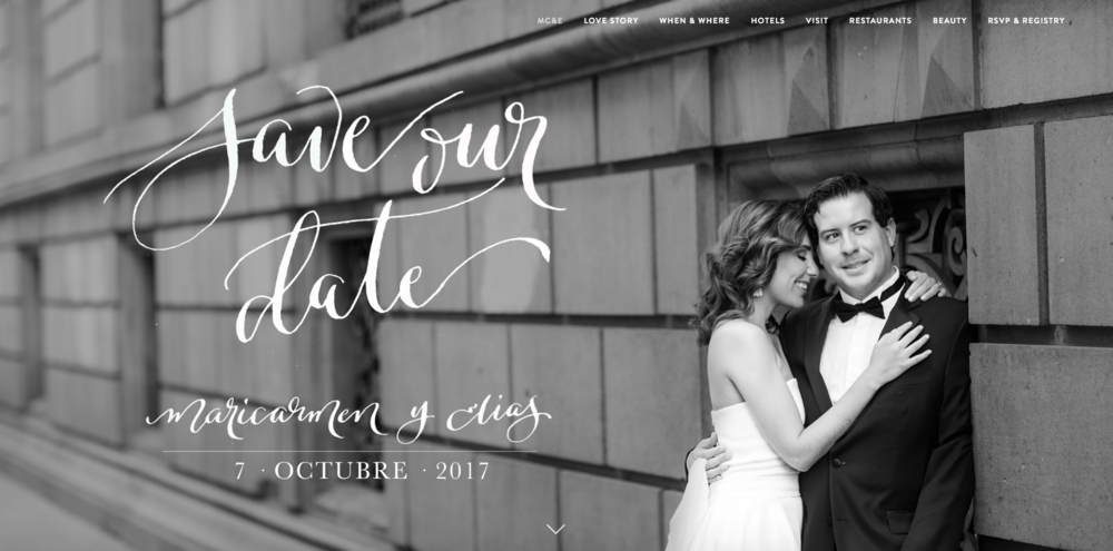 Maricarmen & Elias - Wedding website