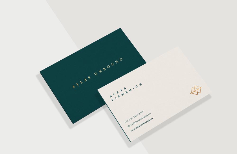 atlas green business cards