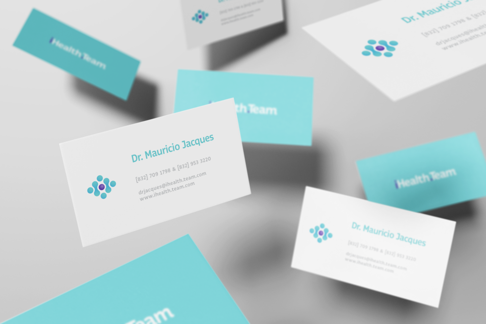 iHealth Business Cards design firm mexico.png